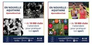 Le CROS Nouvelle-Aquitaine lance sa 2e campagne de communication #JaimeMonClub