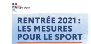 Rentrée 2021 : les mesures pour le sport